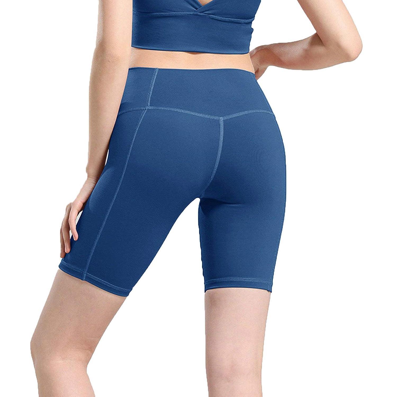 Epinki Damen Sporthose Spandex Laufhose Einfarbig Strumpfhose Atmungsaktiv Leggings Hose F/ür Gym Yoga Laufen Fitness