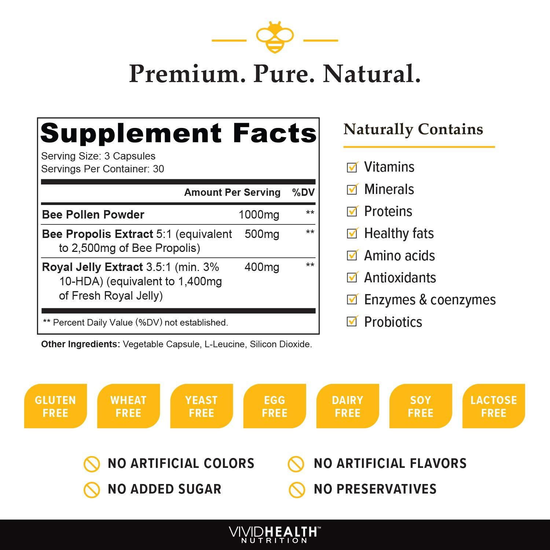 Amazon.com: Vivid salud nutrición alta potencia jalea real ...