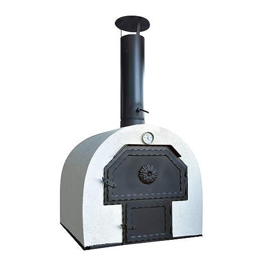 acerto 40239 Horno de piedra para el jardín 62x62cm * Doble cámara ...