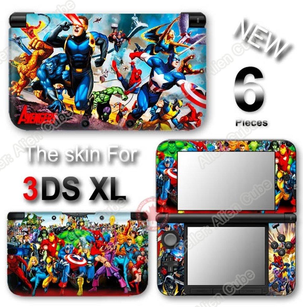 Iron Man Spider Man Captain America Avengers SKIN STICKER DECAL COVER for Original Nintendo 3DS XL