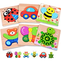 MAGIFIRE Wooden Toddler Puzzles Gifts Toys for 1 2 3 Year Old Boys Girls Baby Infant...