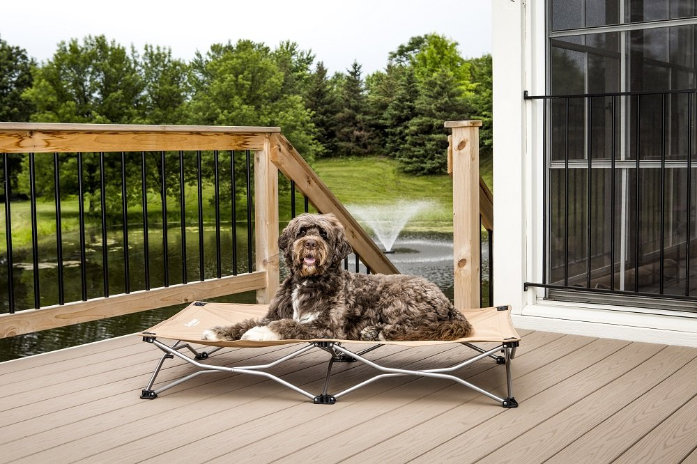 Browns Carlson Pet Products 8020 Large Portable Pup Travel Pet Bed, Tan