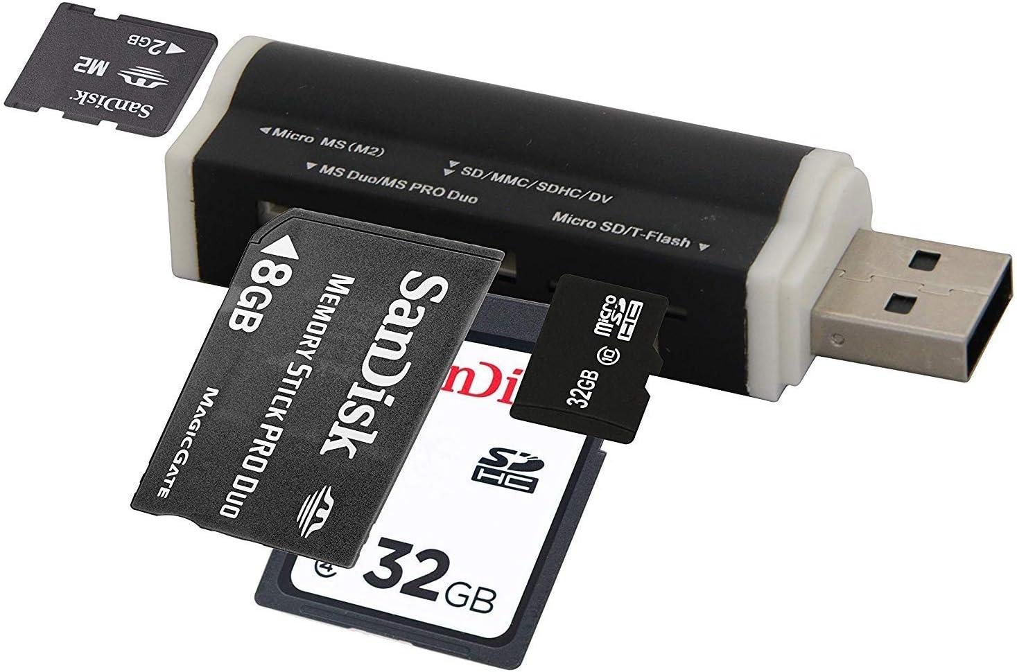 Cofi1453 Usb Card Reader Compatible With Sd Micro Sd M2 Elektronik