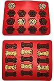 Joyoldelf 2er-SetWelpenpfoten & silikon Backform - Wiederverwendbare Backförmchen BPA frei - Perfekt für Kinder und Erwachsene