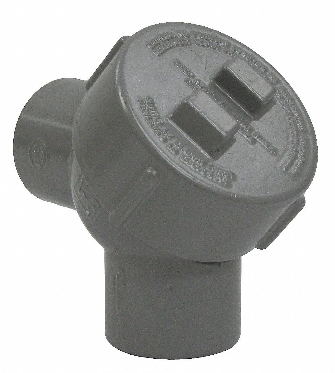 Capped Elbow, 90°, Aluminum, Female to Female Connection, 1/2'' Conduit Size