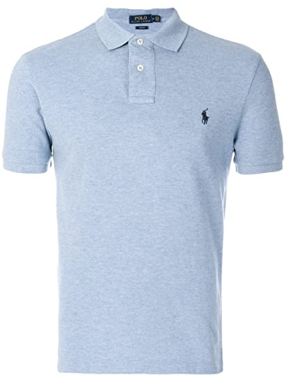 82c5441a ... usa ralph lauren mens 710548797013 light blue cotton polo shirt 18e61  31c85