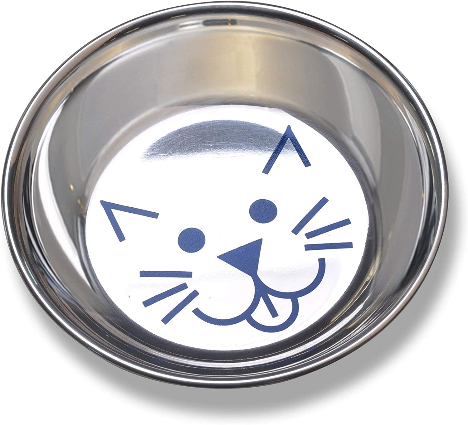 Van Ness Stainless Steel Saucer Style Cat Dish, 8 Ounce