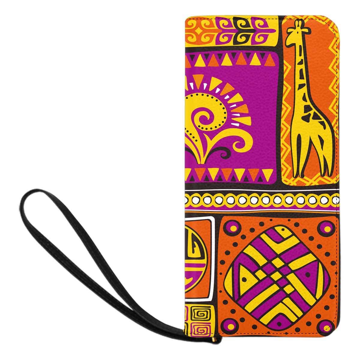 InterestPrint Womens African Print Tribal Clutch Purse Card Holder Organizer Ladies Purse