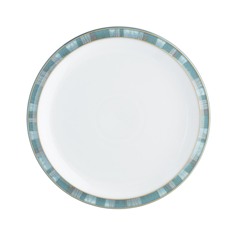 Denby 124010004 Piatto Medio, Ceramica, Acqua/Blu Petrolio, 22.5x22.5x2.5 cm AZC-004