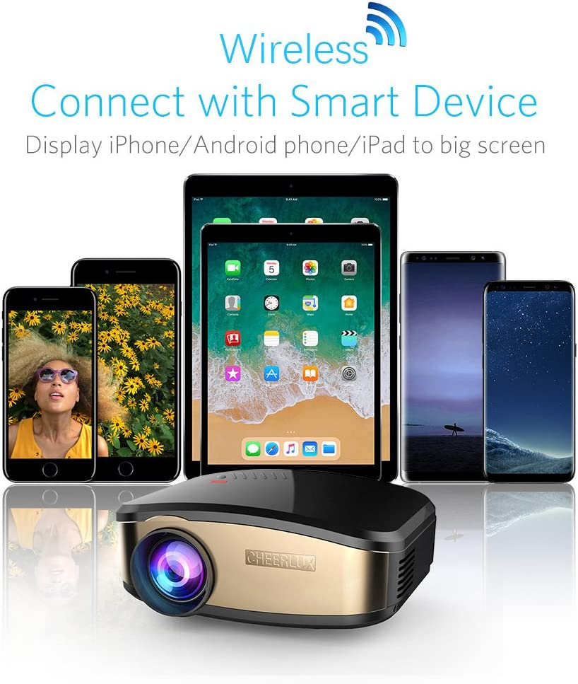 Mini soporte para proyector Cheerlux C6 Wifi Airplay inalámbrico ...