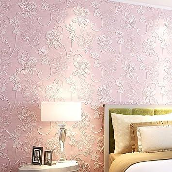 Lyl Einfach Moderne 3d Muster Warm Schlafzimmer Vlies Korean Tapete Blumen Wohnzimmer Schlafzimmer Tapete B Pink Amazon De Sport Freizeit