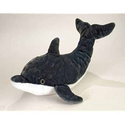 """Wild Republic AQ Dolphin - Adult Tail Up 15"""" Plush: Toys & Games"""
