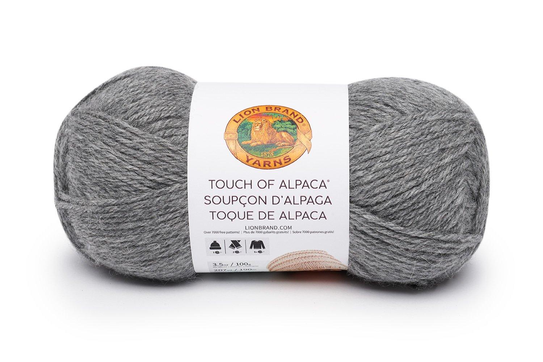 Lion Brand Yarn 124-150 Touch of Alpaca Bonus Bundle, Oxford Grey Lion Brand Yarn Company