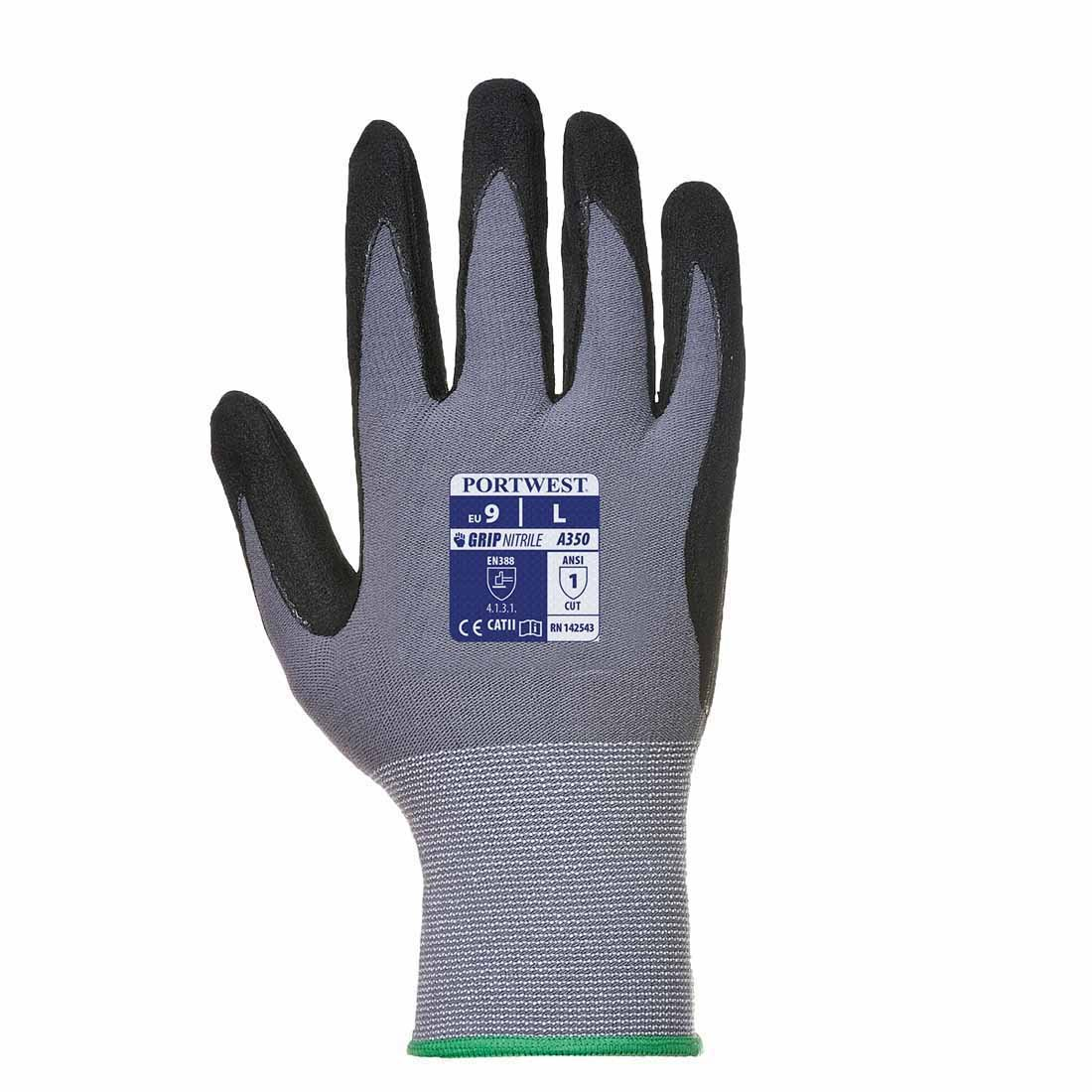 Black Small 1 Pair Pack DermiFlex General Handling Glove Portwest