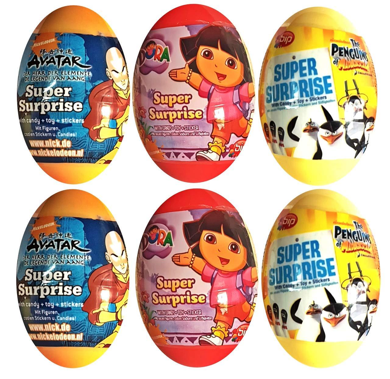 KSS 6 Huevos Sorpresa Avatar de Madagaskar Dora para ...
