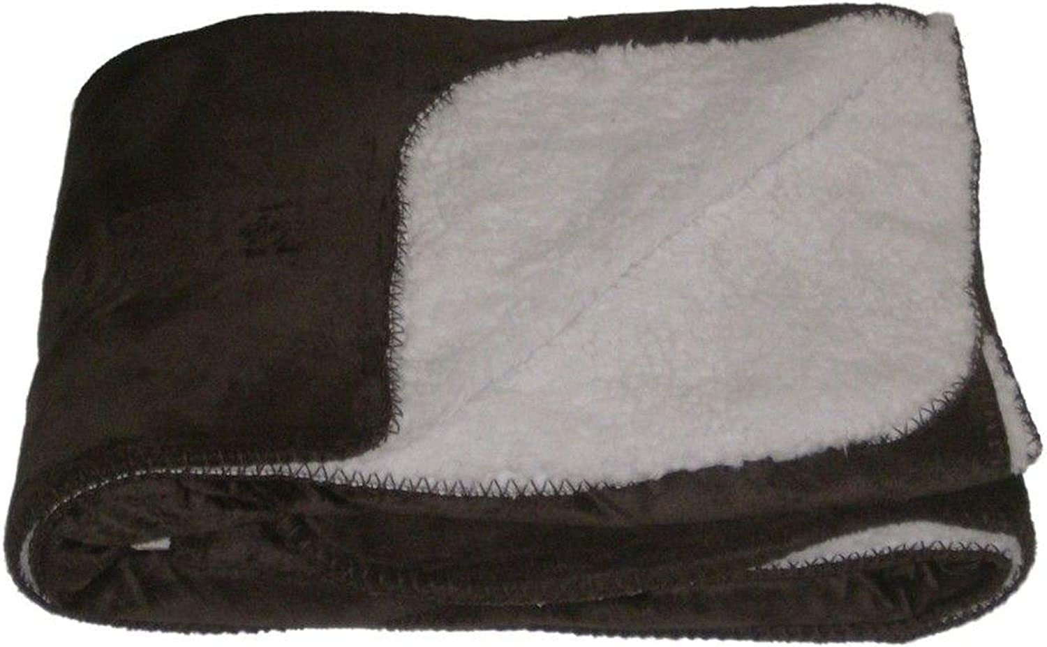 NorthCrest Home Sherpa Micromink Chocolate Brown Oversized Soft Throw Blanket