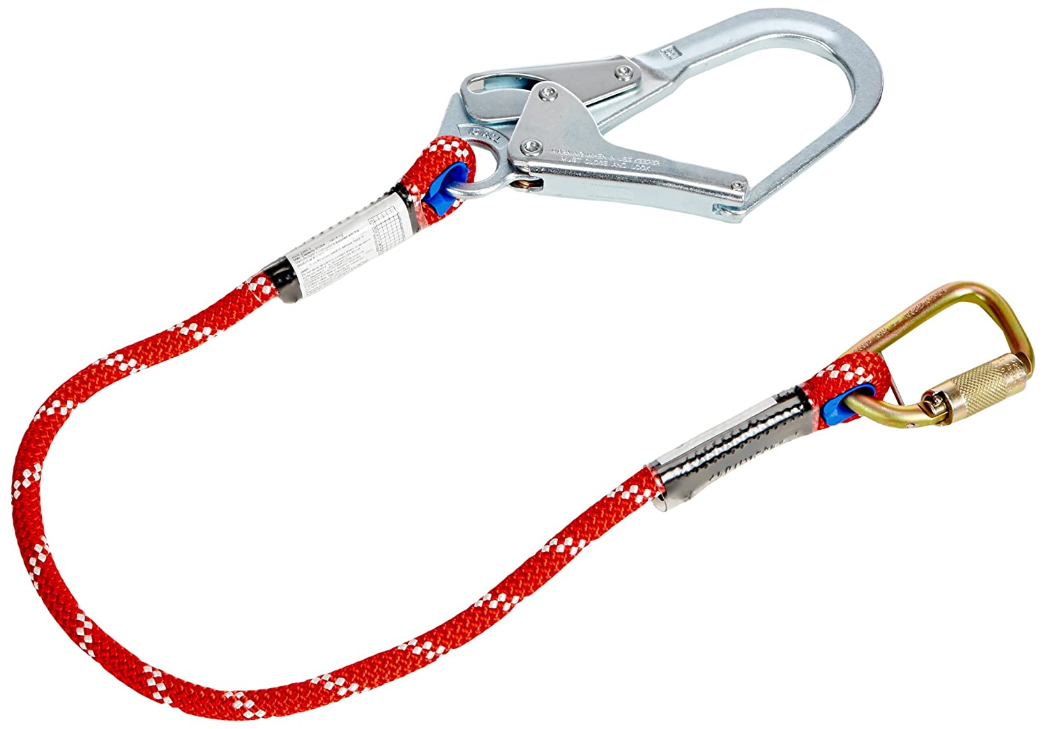 4 4/' Honeywell Safety Products USA Carabiner and Locking Rebar Hook Miller by Honeywell 1014936// Restraint Lanyard with Kernmantle Rope