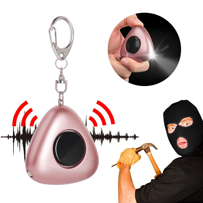 Rape Alarm 130 dB Emergency Personal Alarms,Yarrashop Safety Alarms Siren With LED light, Self Defense Keychain for Women Kids Elderly Students Explorers (Champagne) Viga Europe 0006