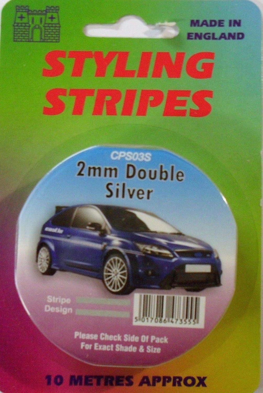 Gold White Silver Coach Tape Styling Stripe Red Pin Stripe 2mm x 10mtr Self Adhesive Double pin Strip Car Pin Stripe Black White