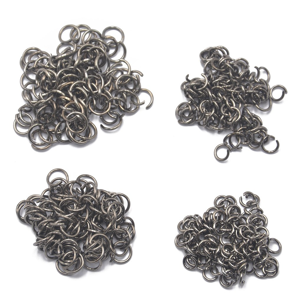 400pcs 5mm/6mm/7mm/8mm/ Jump Rings Open Connectors Jewelry Making Light Gold - Antique Bronze, eine Größe eine Größe Generic