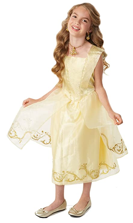 cdd6039f3a Amazon.com  Disney Beauty   The Beast Live Action Belle s Ball Gown Costume  Fits sizes 4-6X  Toys   Games