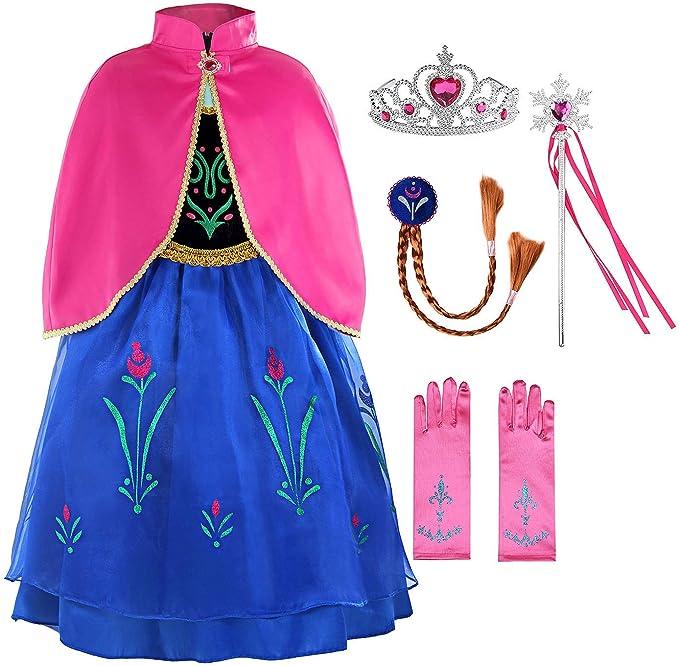Frozen Dress Up Ropa para niñas Anna Snow Queen Elsa Princesa ...