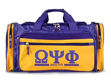 205a79a4bd57 Image Unavailable. Image not available for. Color  Omega Psi Phi Fraternity  Men s new Duffel Bag Purple