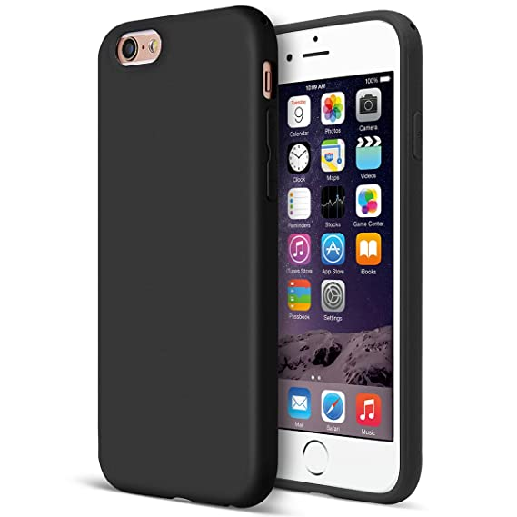 info for 81d7b 6eb1b MUNDULEA Matte case Compatible iPhone 6/6s Flexible TPU Protective Cover  Compatible iPhone 6s/ iPhone 6 (Black)