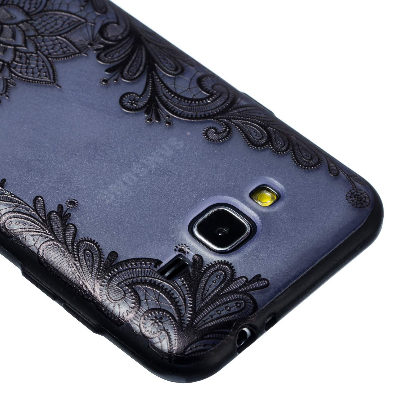 Lotus Rose Housse de Protection pour Samsung Galaxy J7 2016 // J710 Grandoin Coque Galaxy J7 2016 2 en 1 Ultra Mince Coque Transparente Silicone Gel TPU Souple avec Cute Motif Dessin