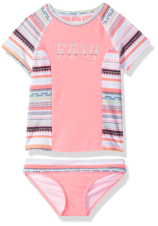 Roxy Girls' Little Indi Short Sleeve Rashguard and Bottom Set ERLWR03061
