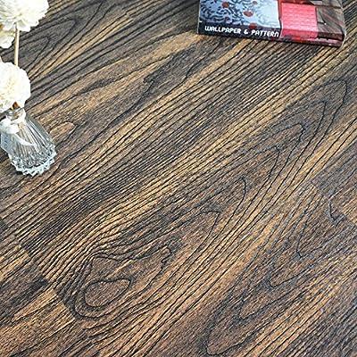 yazi Vinyl Plank Flooring Tile Peel and Stick Flooring Vintage Wood Grain Effect 23x12inch Pack of 6