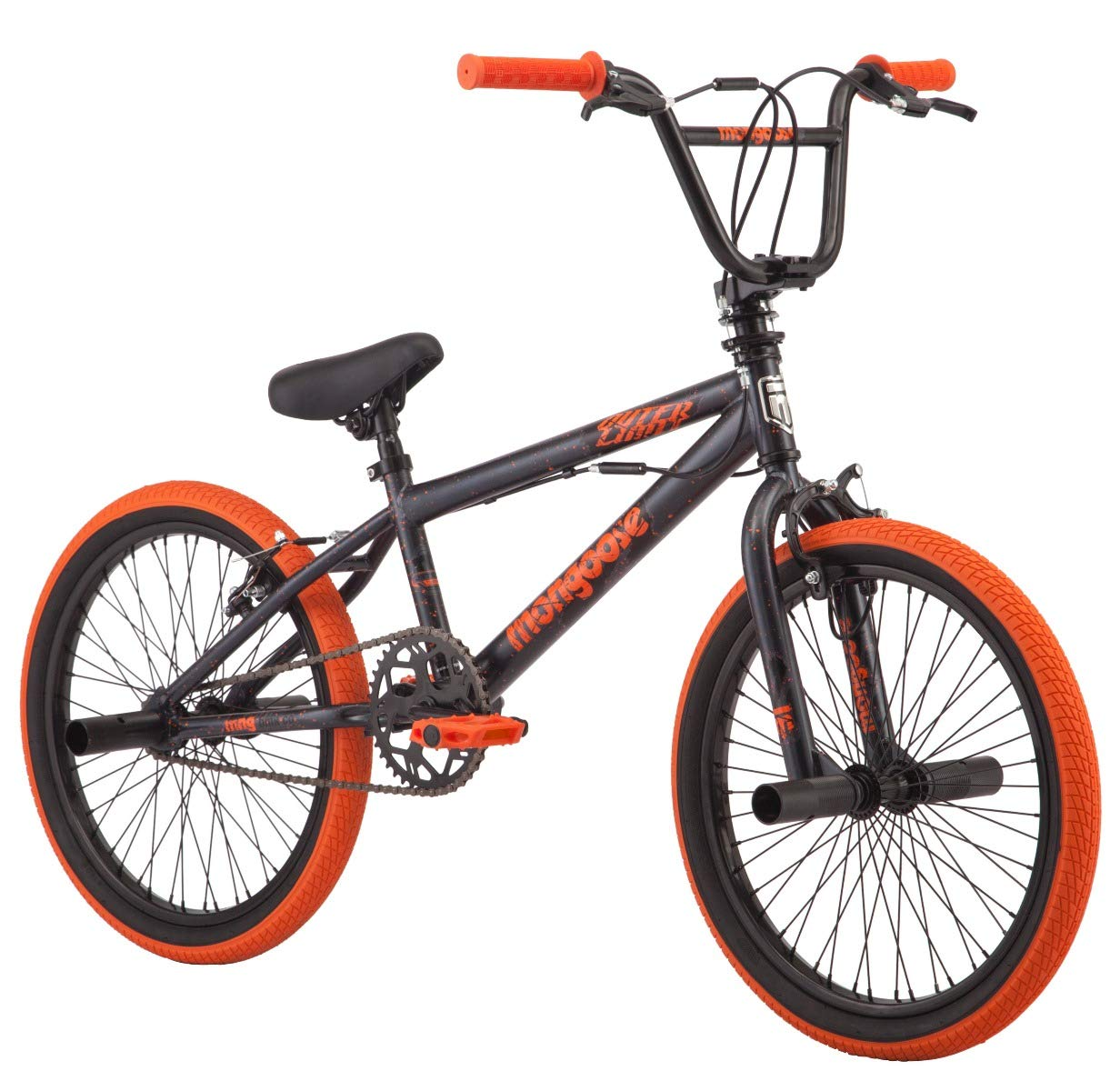 "Mongoose 2019 20"" Outerlimit BMX Bike, Dark Grey/Orange"