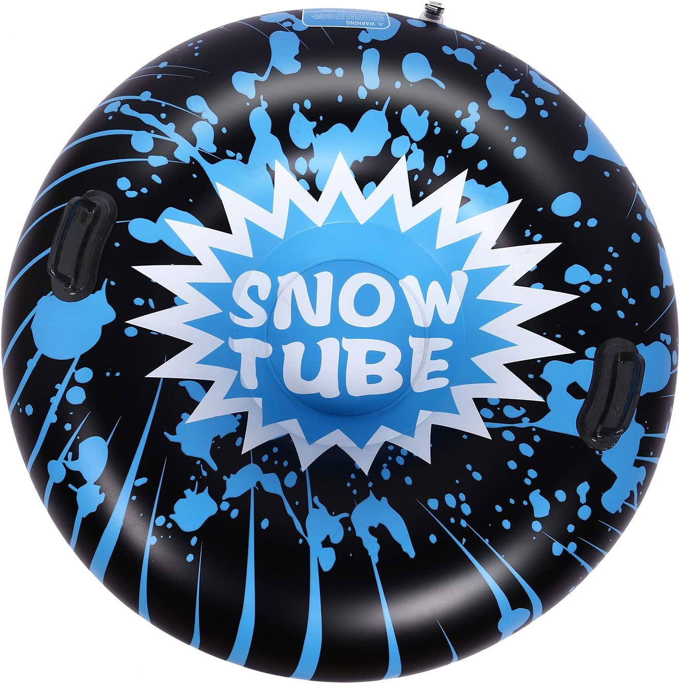 Brace Master Snow Tube - 47 Inch Inflatable Heavy Duty Snow Sled Tube 6mm Thickness Material for Highly Tolerant Abrasion Great for Kids and Adults Ideal for Winter Fun