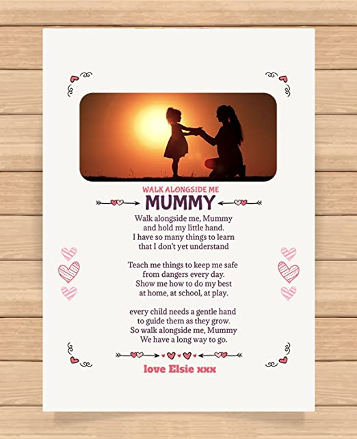 Birthday Mothers Day Gift Keepsake A4 Personalised Poem For Mummy Christmas