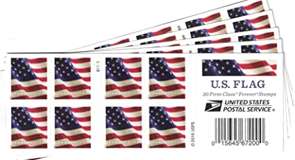 US Flag USPS Forever Stamps Book Of 20 2017 5 Books