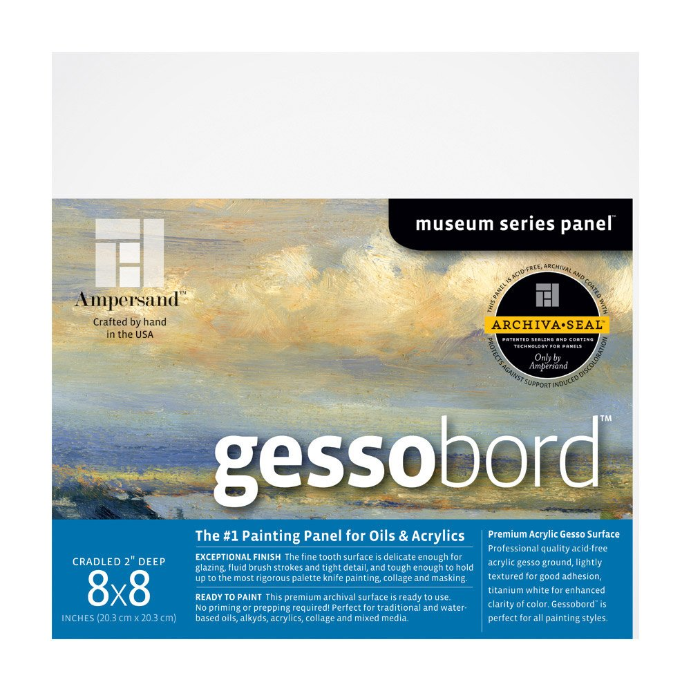 """Gessobord Cradled Painting Panel Size: 8"""" H x 8"""" W"""