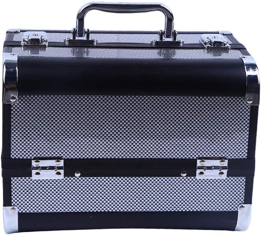 クローズアップ収納化粧箱大容量ポータブル化粧品ケース用美容メイクアップと女の子女性旅行と毎日の収納と拡張可能なトレイ付きロック