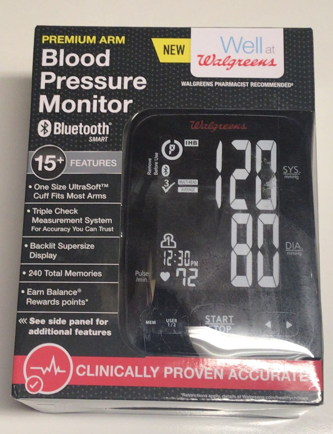 Walgreens Premium Arm Bluetooth Smart Blood Pressure Monitor by Walgreens (Image #1)