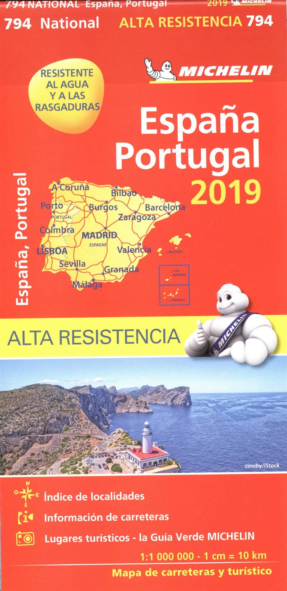 "Mapa National España - Portugal ""Alta Resistencia"" (Mapas National Michelin)"