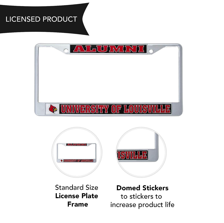 Desert Cactus University of Louisville Cardinals Metal License Plate Frame for Front Back of Car Officially Licensed Alumni