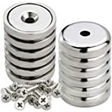 LOVIMAG Cup Magnets, Industrial Strength Round Base Magnets, 60 lbs Holding Force, Pack of 12