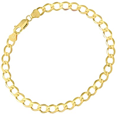 Citerna Women's 9 ct Yellow Gold Curb Bracelet of Length 19 cm