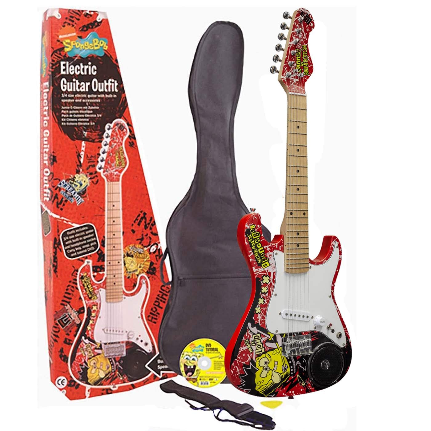 NICKELODEON SPONGEBOB SQUAREPANTS / 3/4 ELECTRIC GUITAR KIT WITH BUILT-IN SPEAKER: Amazon.es: Electrónica
