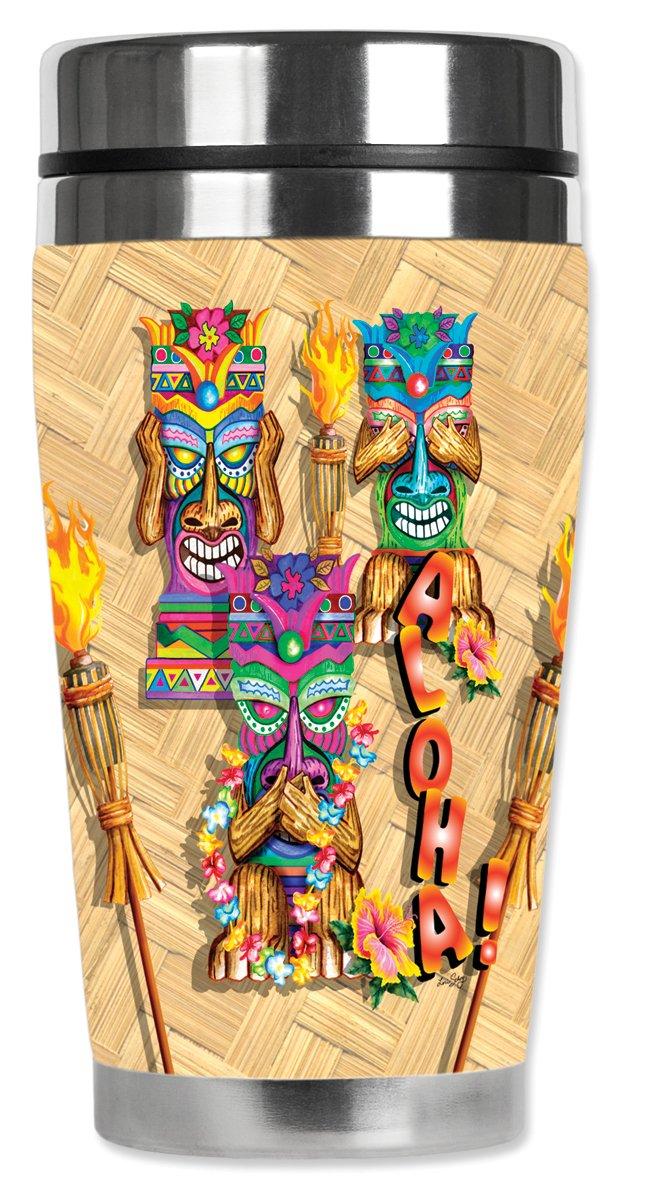 Aloha Mugzie brand 16-Ounce Travel Mug with Insulated Wetsuit Cover