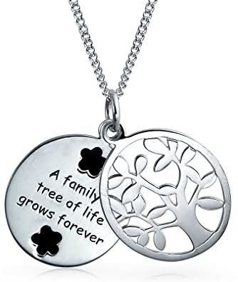 c7788b7c8e0f2 Image Unavailable. Image not available for. Color  Family Circle Tree Of Life  Pendant Oval Dog Tag Wishing Tree Necklace For Women ...