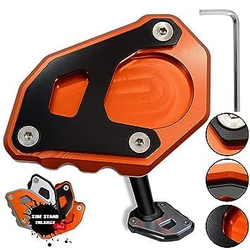 ... CNC Aluminio Costado Soporte Lateral Ampliar para KTM 1050 1090 1290 Adventure / 1290 Super Adventure R (Naranja+Negro): Amazon.es: Coche y moto