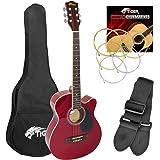 Tiger Cutaway Acoustic Guitar Kit - Red