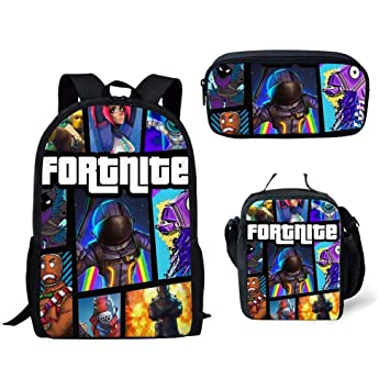 UMydeal Mochila Fortnite Escuela Bolsas Fortnite Juegos Fortnite Fortnite Backpack Mochila de Viaje Daypack Mochila Informal