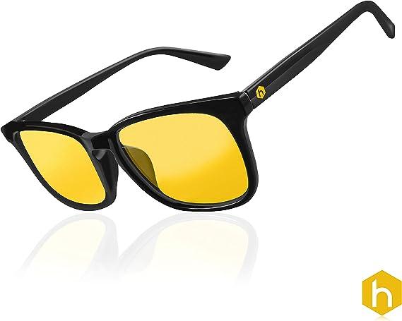 Hexagonal Advance Gaming ordenador gafas PC anti UV reflejo azul bloqueo de monitor de vídeo de luz ámbar amarillo lentes: Amazon.es: Electrónica