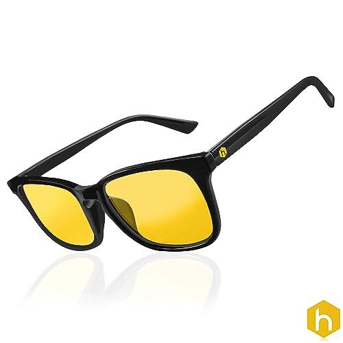HEX Advance Gaming Computer Glasses PC Anti UV Glare Blue Light Blocking Video Monitor Amber Yellow Lenses